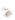 hellbraunes Pulver auf weißem Hintergrund