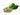 Grüne Kaffeebohnen und grüne Blätter auf weißem Hintergrund